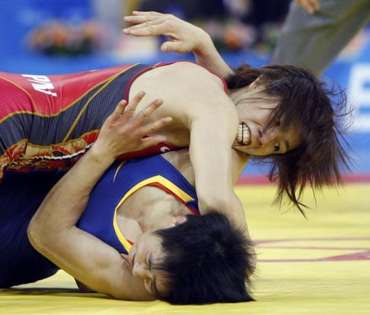 Portabandiera donna anche per il Giappone: Saori Yoshida combatte nella categoria 55 kg ma non ha paura di nessuno (Reuters/Best)