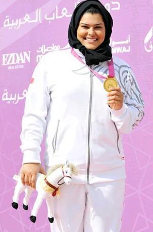 Anche per il Bahrain una donna sarà portabandiera (come del resto a Pechino, dove sfilò la sprinter Roqaya Al-Gassra), e soprattutto è un'atleta molto promettente: la tiratrice Azza Al Qasmi (da Facebook)