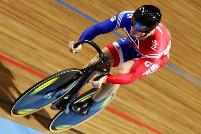 A chiudere la sfilata il paese padrone di casa: Chris Hoy vanta quattro ori olimpici, tre conquistati a Pechino (Epa/Jannink)