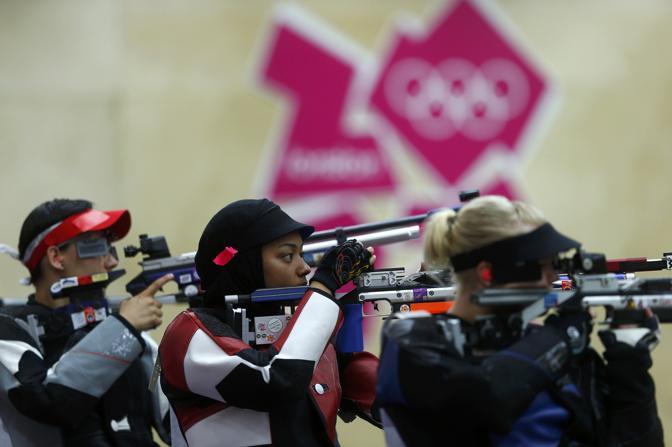 Oltre alla tiratrice, il Qatar a Londra 2012 schiererà anche la nuotatrice Nada Mohammed Wafa Arakji e la sprinter Noor al-Maliki (Reuters/Keogh)