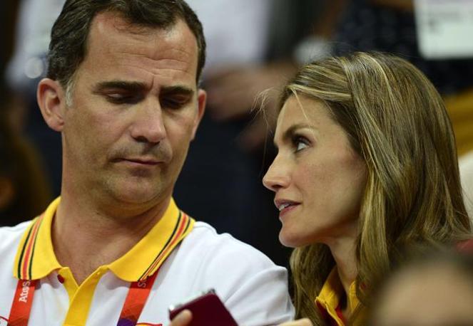 Felipe e la moglie Letizia (Afp)