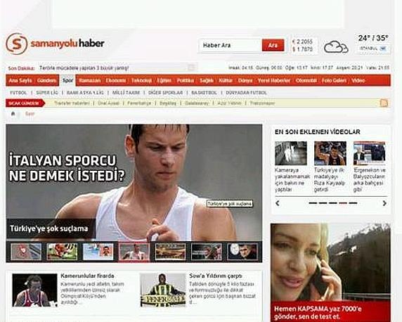 """Indignato lo sportivo Samanyolu """"Accuse scandalose alla Turchia"""""""