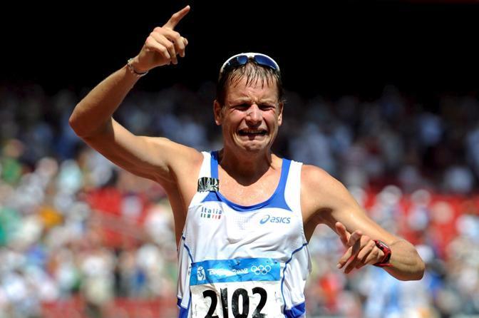 Alle olimpiadi di Pechino quando vinse l'oro nei 50 km di marcia (Epa/Nietfield)