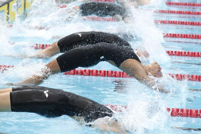 Laure Manaudou ai Swimming Paris Open lo scorso 7 luglio (Afp)