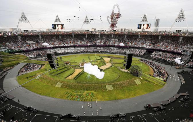Una visione panoramica dello stadio, comincia Londra 2012 (Reuters)