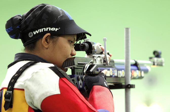 Scenderà in campo a londra 2012, nella gara del tiro con carabina ad aria compressa da 10 metri (Epa)