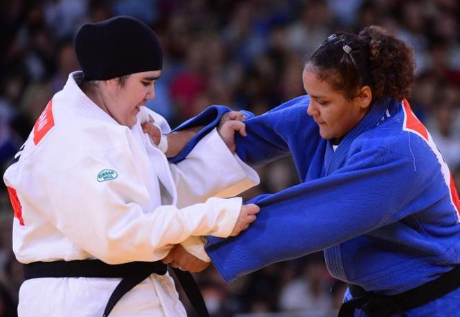 Eccola sul tatami contro la portoricana Melissa Mojica (Afp/Dunand)