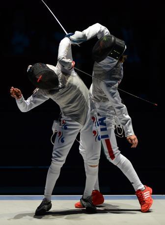 Vezzali contro la sudcoreana Nam Hyun Hee per il bronzo (Afp)