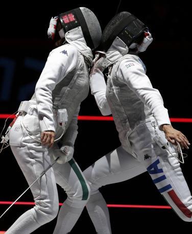 Il match tra Elisa Di Francisca e Arianna Errigo (Reuters)
