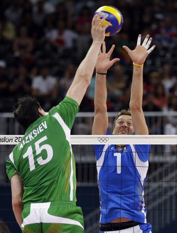 Al termine di un intenso match con la Bulgaria gli azzurri del volley hanno conquistato la medaglia di bronzo ai Giochi olimpici di Londra (Ap)