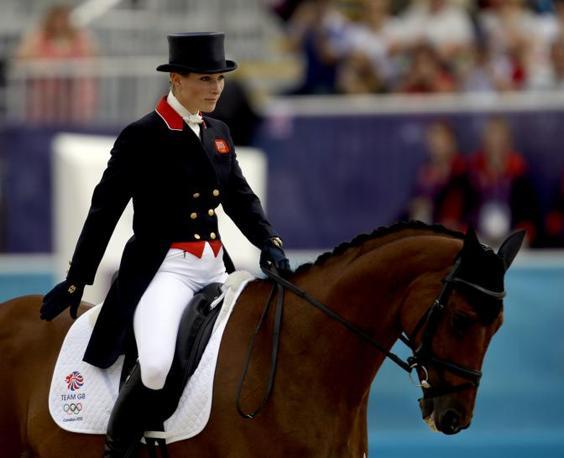 Zara con il suo cavallo High Kingdom (Ap)