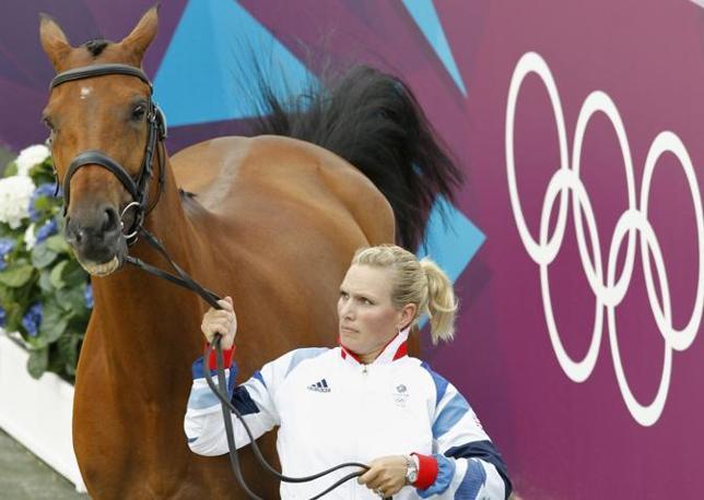 Zara Phillips con il suo cavallo High Kingdom (Reuters)