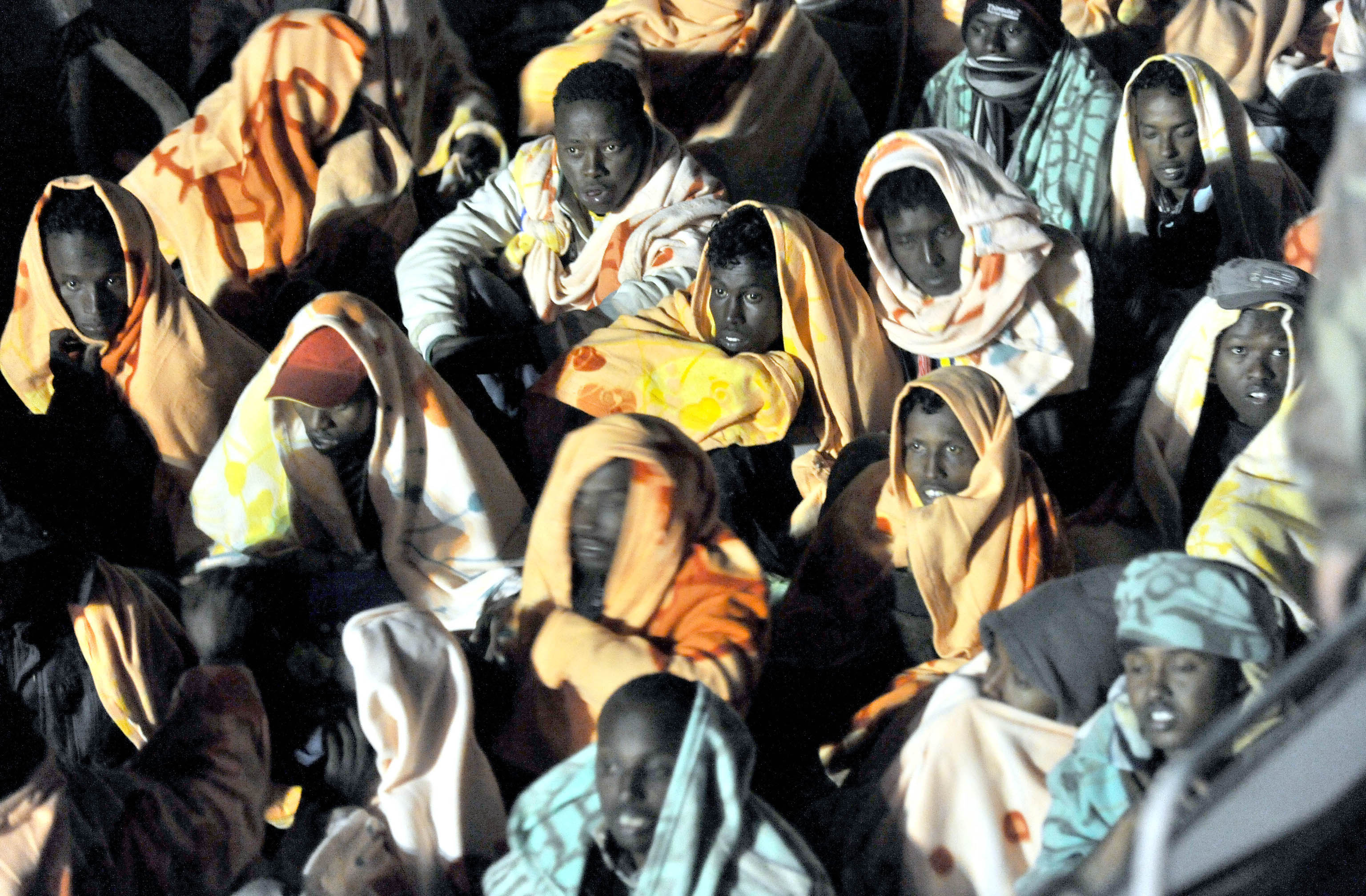 I migranti soccorsi a Lampedusa
