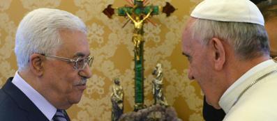 Abu Mazen e Papa Bergoglio (Ansa/Brambatti)