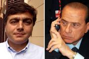 Il direttore dell'Avanti Valter Lavitola (S) e il premier Silvio Berlusconi (Ansa)