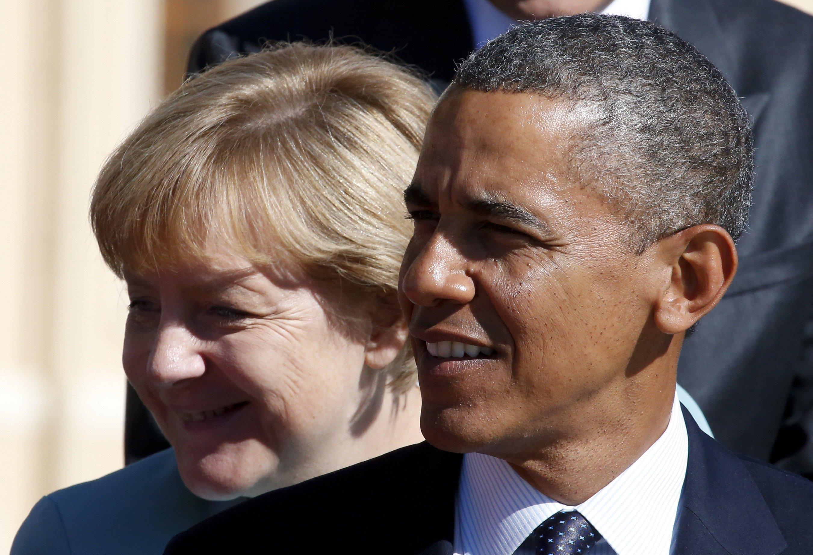La cancelliera tedesca Merkel con il presidente Usa, Obama (Reuters)