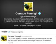 Il tweet di Formigli