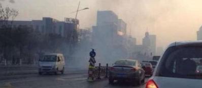 Il luogo dell'attentato a Taiyuan, in Cina