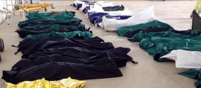 Un'immagine di archivio di alcune delle vittime del naufragio del 3 ottobre (Ansa)