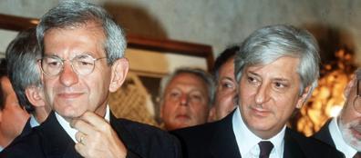 Il segretario generale della Camera, Ugo Zampetti (nella foto insieme a Luciano Violante)