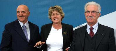 Angeletti, Camusso e Bonanno (LaPresse)