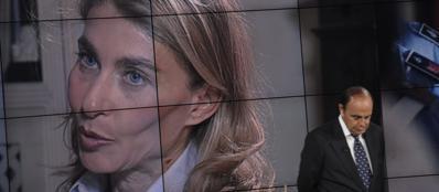 Giulia Ligresti intervistata da Bruno Vespa a Porta a Porta (Imagoeconomica)
