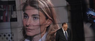 Giulia Ligresti intervistata da Bruno Vespa (Imagoeconomica)