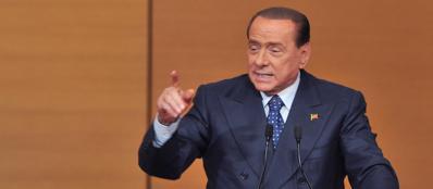 Silvio Berlusconi parla al Consiglio Nazionale (Ansa)