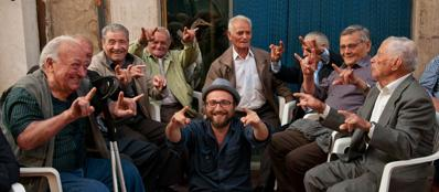 Luca Vullo con degli «allievi»