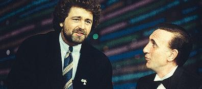 Grillo e Baudo insieme in tv (archivio Corriere)
