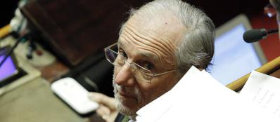 Renzo Piano in aula al Senato (Ansa)