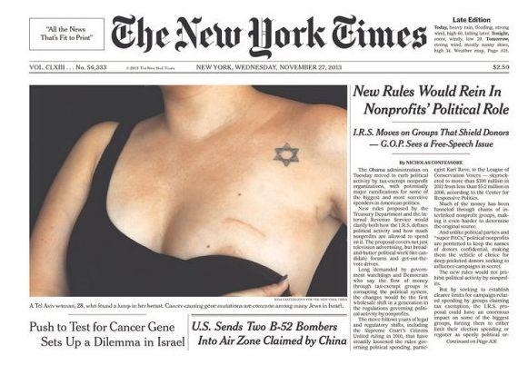 La prima pagina del «New York Times»