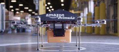 Un drone di Amazon Prime Air