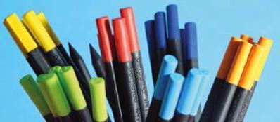 Le matite con la gomma colorata