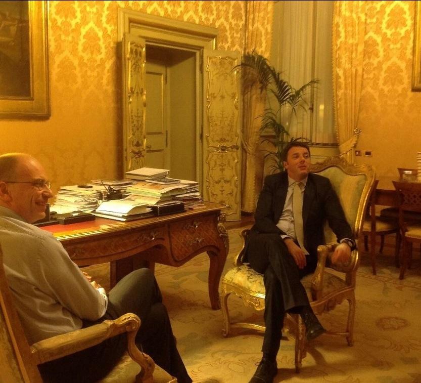 Enrico Letta Twitter: Letta E Renzi, Incontro A Palazzo Chigi E Su Twitter