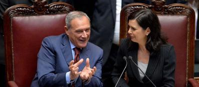 Piero Grasso e Laura Boldrini (Imagoeconomica)