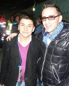 Salvio Passante, in una foto con Kekko di Modà (da Calcionapoli24.it)