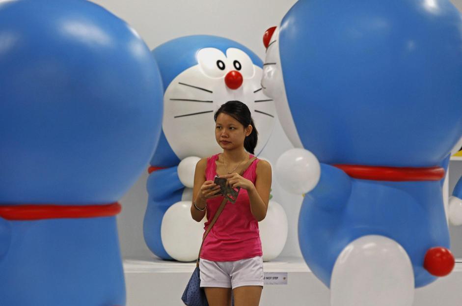 Doraemon si fa in 100: in Malesia la mostra sul gattone