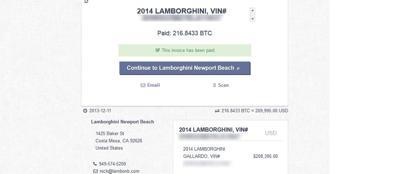 I documenti pubblicati su internet nel quale viene dimostrato il pagamento in bitcoin