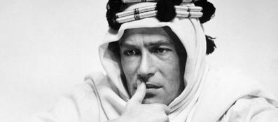 Peter O'Toole in una scena di «Lawrence d'Arabia»