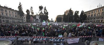 I Forconi a Piazza del Popolo 18 dicembre (Ansa)