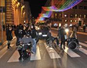 La protesta dei malati davanti a Palazzo Chigi (Lapresse)