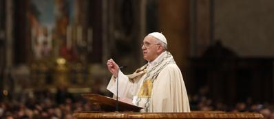 Francesco celebra il «Te Deum» a San Pietro