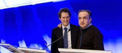 Presidente e amministratore delegato di Fiat Chrysler John Elkann e Sergio Marchionne