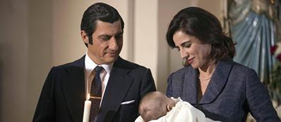 Emilio Solfrizzi è il commissario Calabresi in una scena della fiction Rai «Il commissario»
