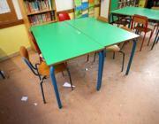 Aule sporche alla scuola Leopardi di Mira (Ve) (foto Toniolo/Errebi)