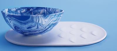 Il prototipo dei piatti autopulenti in nanocellulosa (da Tomarrowmachine.se)
