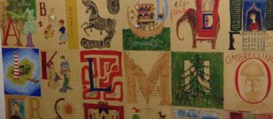 L'alfabeto dipinto da Vera Vigevani e dal marito Giorgio Jarach, quando erano in attesa della prima e unica figlia Franca. L'alfabeto occupa un'intera parete nella cameretta della ragazza, a Buenos Aires. Franca, desparecida, fu gettata viva in mare da un «volo della morte» nel 1976, a 18 anni