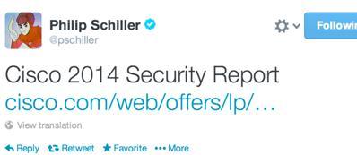 Il tweet di Schiller