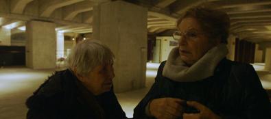 Vera Vigevani Jarach e Lilian Segre al Binario 21 di Milano